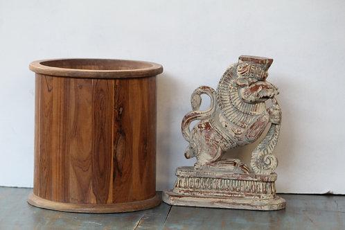 Indian Vintage Unique Home Decor Decorative Wooden Lion Statue