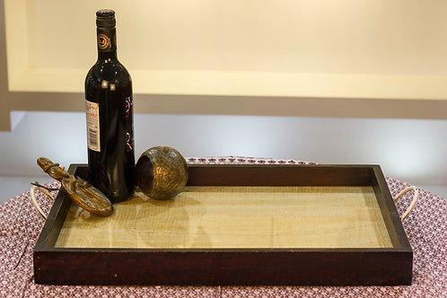 Kotsa Rectangle Tray With Carving On Side Designer Item 603