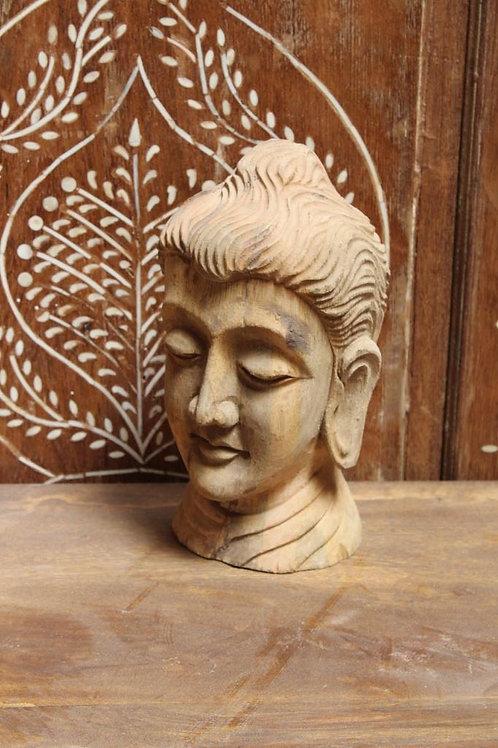 Kotsa Vintage Buddha Face Statue | Home Decor Statue | Buddha Wooden Statue K08