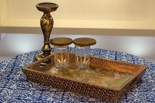 Kotsa Rectangle Tray With Carving On Side Designer Item 623