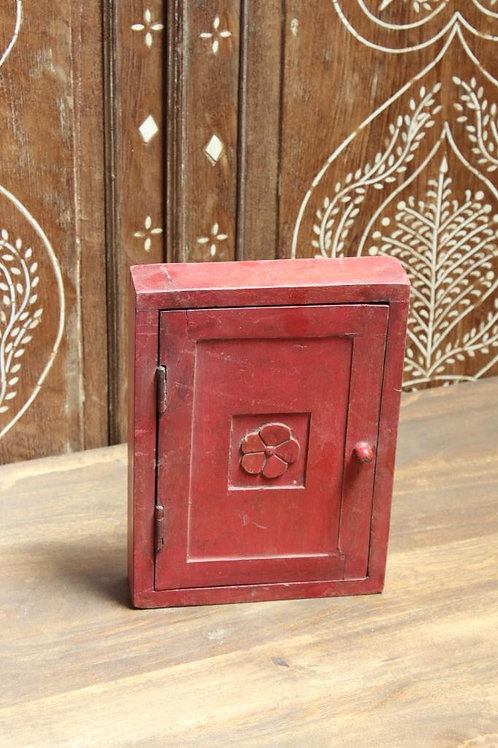 Kotsa Vintage Small Red Storage Box | Living Room Wooden Box For Jewels K27