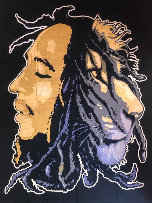 Kotsa Cotton Single Mandala Bedsheets | Bob Marley | Handmade Prints | B01