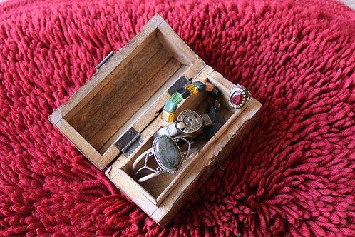 Kotsa Indian Vintage Unique Home Decor | Living Room Brown Little Box