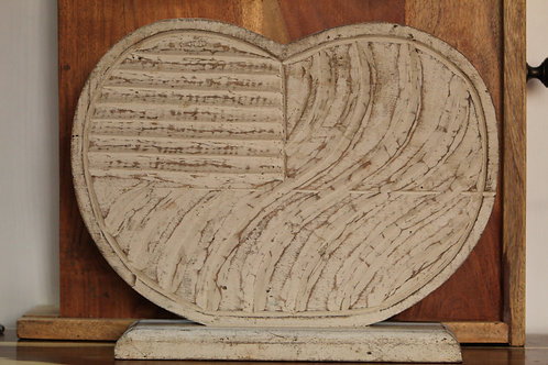 Kotsa Sustainable Home Decor Heart Pillar | Recycled Wooden Heart Pillar | K67