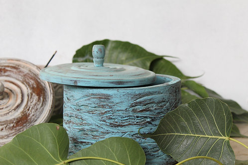 Handicraft Sheesham Wooden Masala Box | Handmade Containers | Masala Dabba | K76