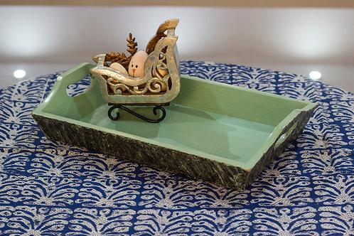 Kotsa Rectangle Tray With Carving On Side Designer Item 621