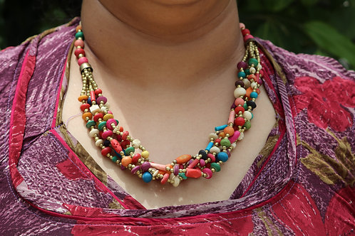 Charm colorful stone handmade necklace party wear casual tribal touch unique one