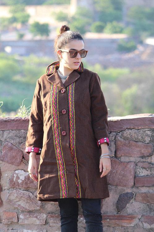 Kotsa   Camel Wool   Wool Jacket   Bohemian Jacket   Woolen Coat  KVJ21