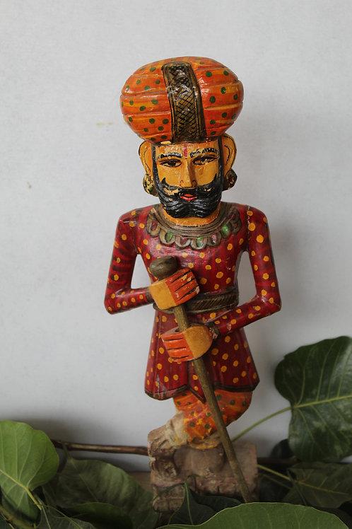 Handicraft Chokidar Statue | Wooden Watchman Statue | Gate Keeper |K74