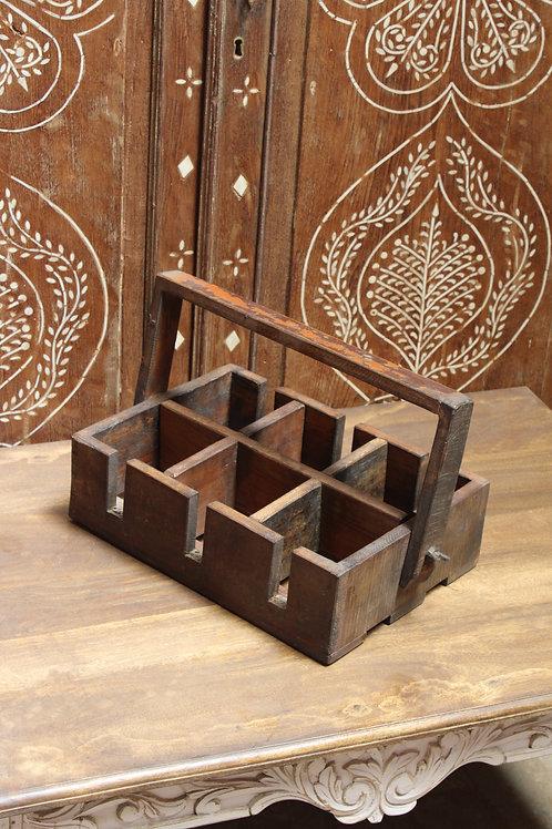 Kotsa Vintage Kitchen Masala Box   Wooden Masala Box For Kitchen K34