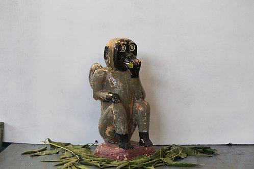 Handmade ancestral wooden monkey design rare visage pieces