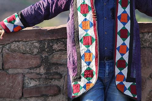 Kotsa Reversible kantha Jacket | Unisex Jacket | Banjara Jacket | Gypsy KVJ12