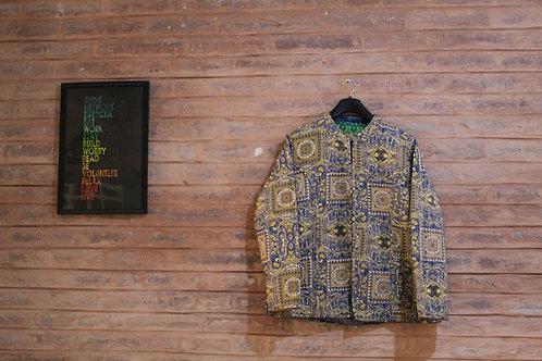 Kotsa Reversible kantha Jacket | Unisex Jacket | Banjara Jacket | KVJ11