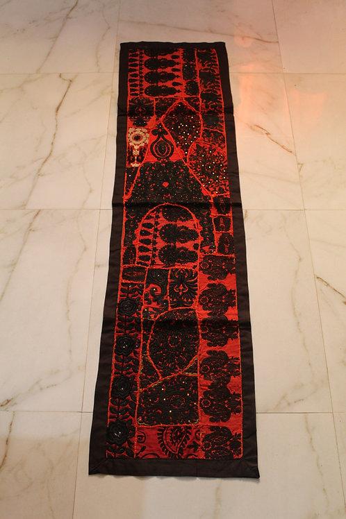 Kotsa Wall Hanging | Red Wall Hanging | Embroiddery Tapestry Pattern KT04