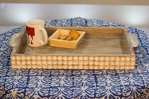 Kotsa Rectangle Tray With Carving On Side Designer Item 637
