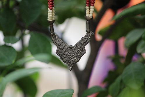 Kotsa Original Old Collectible Necklace, Antique Ancient Carved Beads Necklace