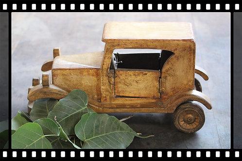 Old vintage design wooden handmade car souvenir collection kotsa