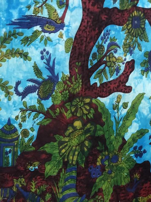 Kotsa Cotton Single Mandala Bedsheets   Tree Of Life    Handmade   B08