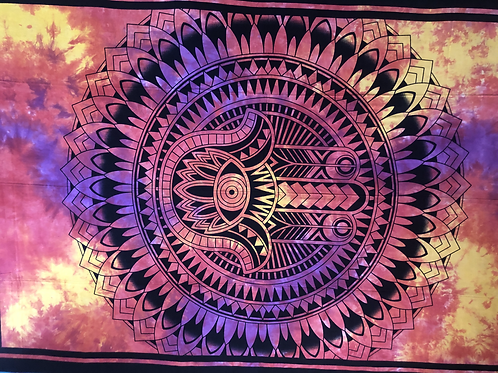 Kotsa Cotton Single Mandala Bedsheets | Rangoli Design  | Handmade | B11