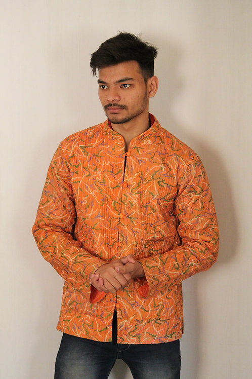 Kotsa Reversible kantha Jacket | Unisex Jacket | Banjara Jacket | KVJ02