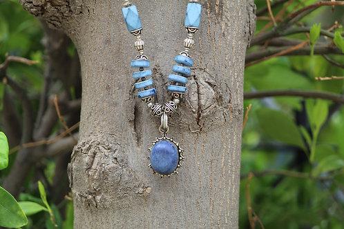 Lapis Lazuli handmade necklace with stone unique lapis , unique rare necklace