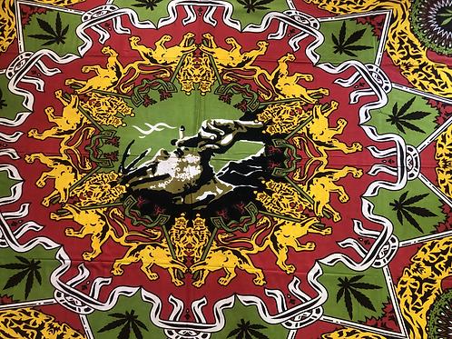 Kotsa Cotton Single Mandala Bedsheets | Bob Marley Design | Handmade | B17