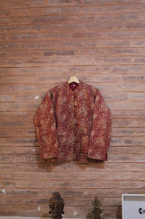 Kotsa Reversible kantha Jacket | Unisex Jacket | Banjara Jacket | KVJ10