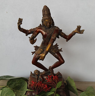 Kotsa Lord Shiva Dancing Natraj Murti Nataraja Shiv Statue Brass Metal Home