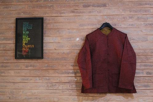 Kotsa Reversible kantha Jacket   Unisex Jacket   Banjara Jacket   KVJ03