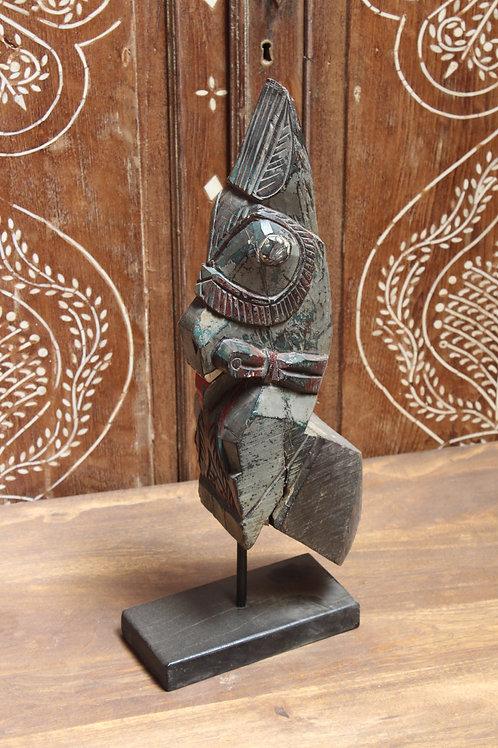 Kotsa Indian Vintage Designer Horse | Wooden Black Horse Statue K19