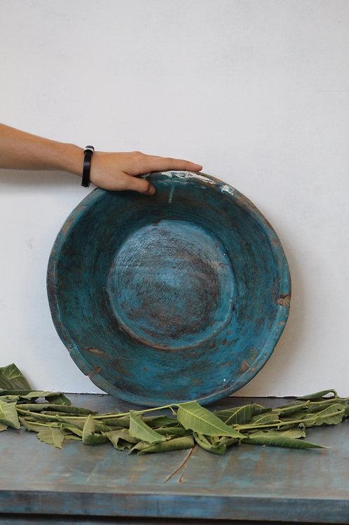 Handmade wooden platter / parat rustic vintage design kotsa