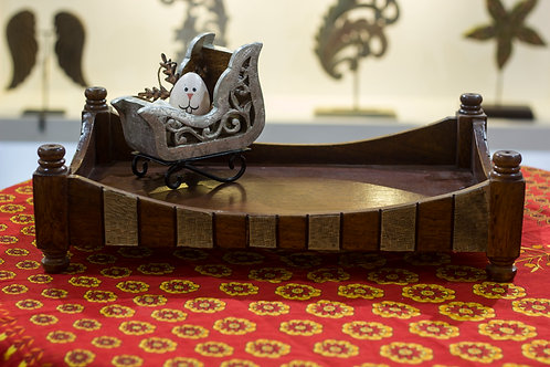 Kotsa Rectangle Tray With Carving On Side Designer Item 610