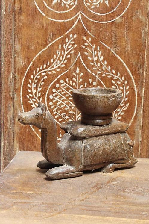 Kotsa Vintage Small Camel Statue   Living Room Wooden Camel Statue For Decor K28