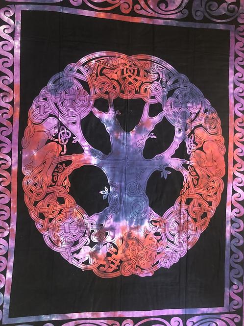 Kotsa Cotton Single Mandala Bedsheets   Tree Of Life   Handmade   B06