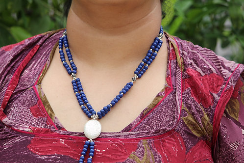Handmade white glass beads necklace party wear casual jeans wear dressing rare