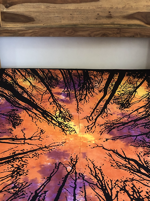 Kotsa Cotton Single Mandala Bedsheets | Tree Of Life | Handmade | B14