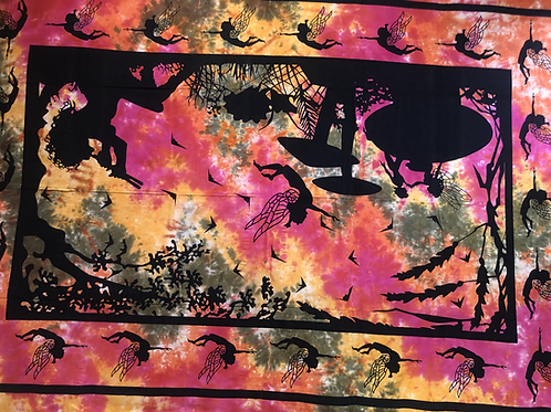 Kotsa Cotton Single Mandala Bedsheets | Tree Of Life | Handmade | B15