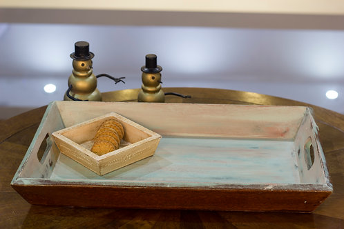 Kotsa Rectangle Tray With Carving On Side Designer Item 618