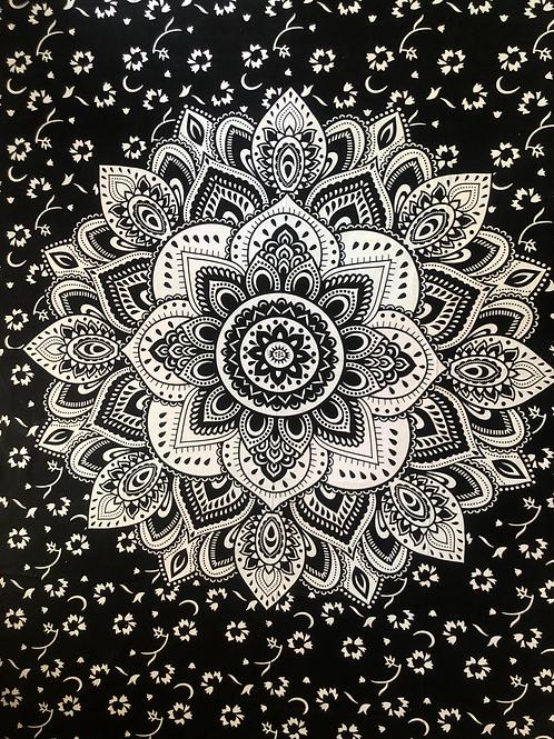 Kotsa Cotton Single Mandala Bedsheets | Rangoli Design | Handmade Prints | B03