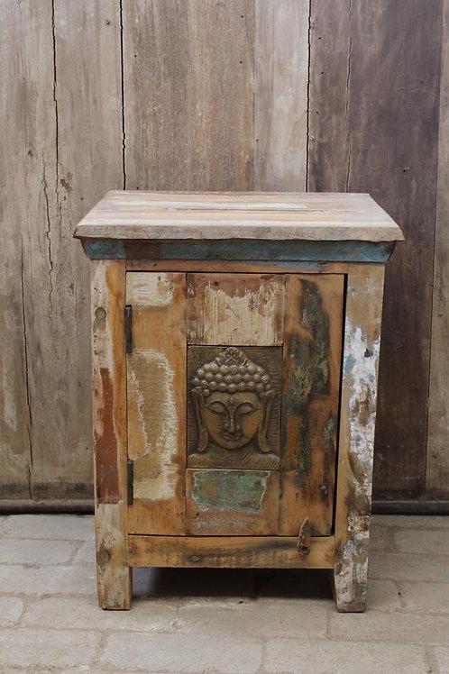 Kotsa Vintage Buddha Face Storage Box | Living Room Rusted Brown Box K23