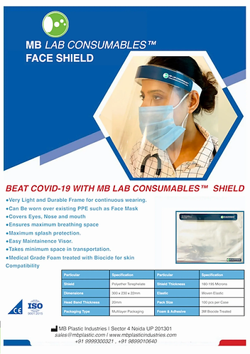 Face Shield ( Pack of 2 )