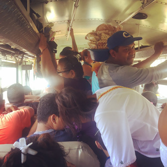 Riding on a Chicken Bus