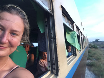 Travelling the overnight train in  Myanmar