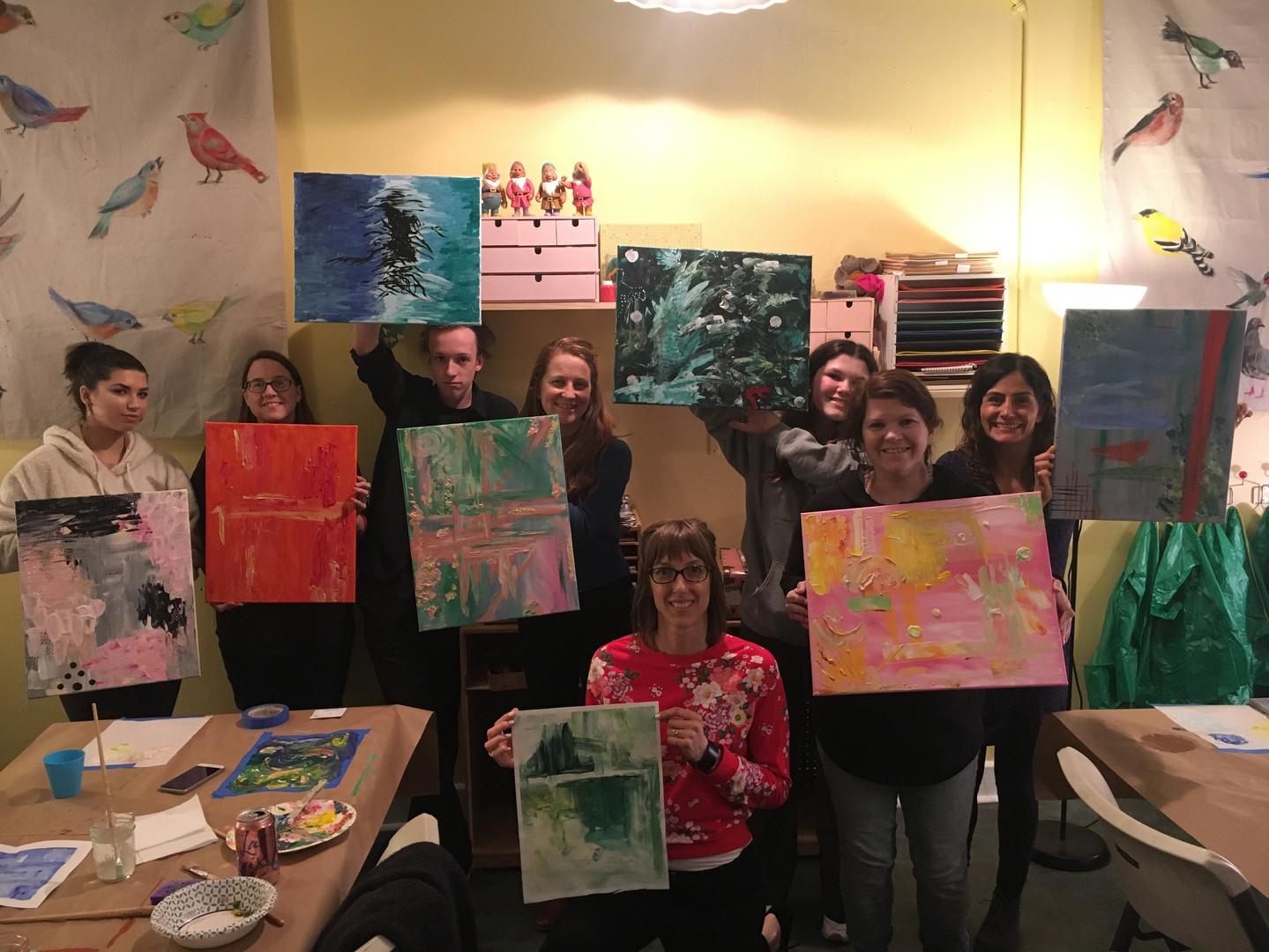 Abstract Painting Workshop Fun!