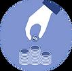 Cartoon hand counting money