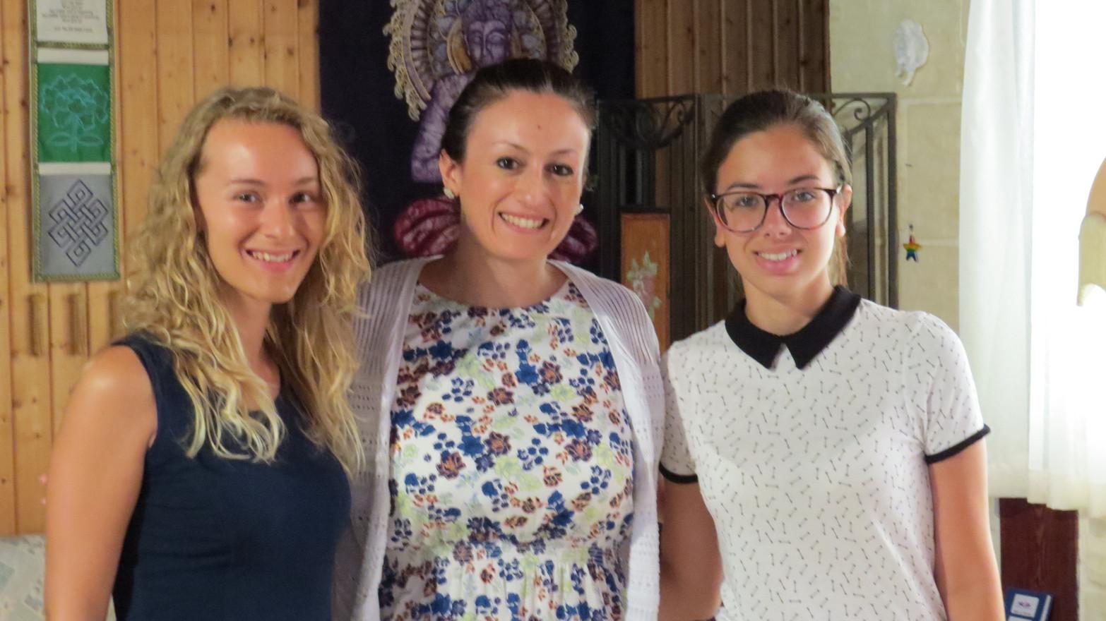 (left to right) Lisa Rossmann, Stephanie Micallef, Jessica Mercieca