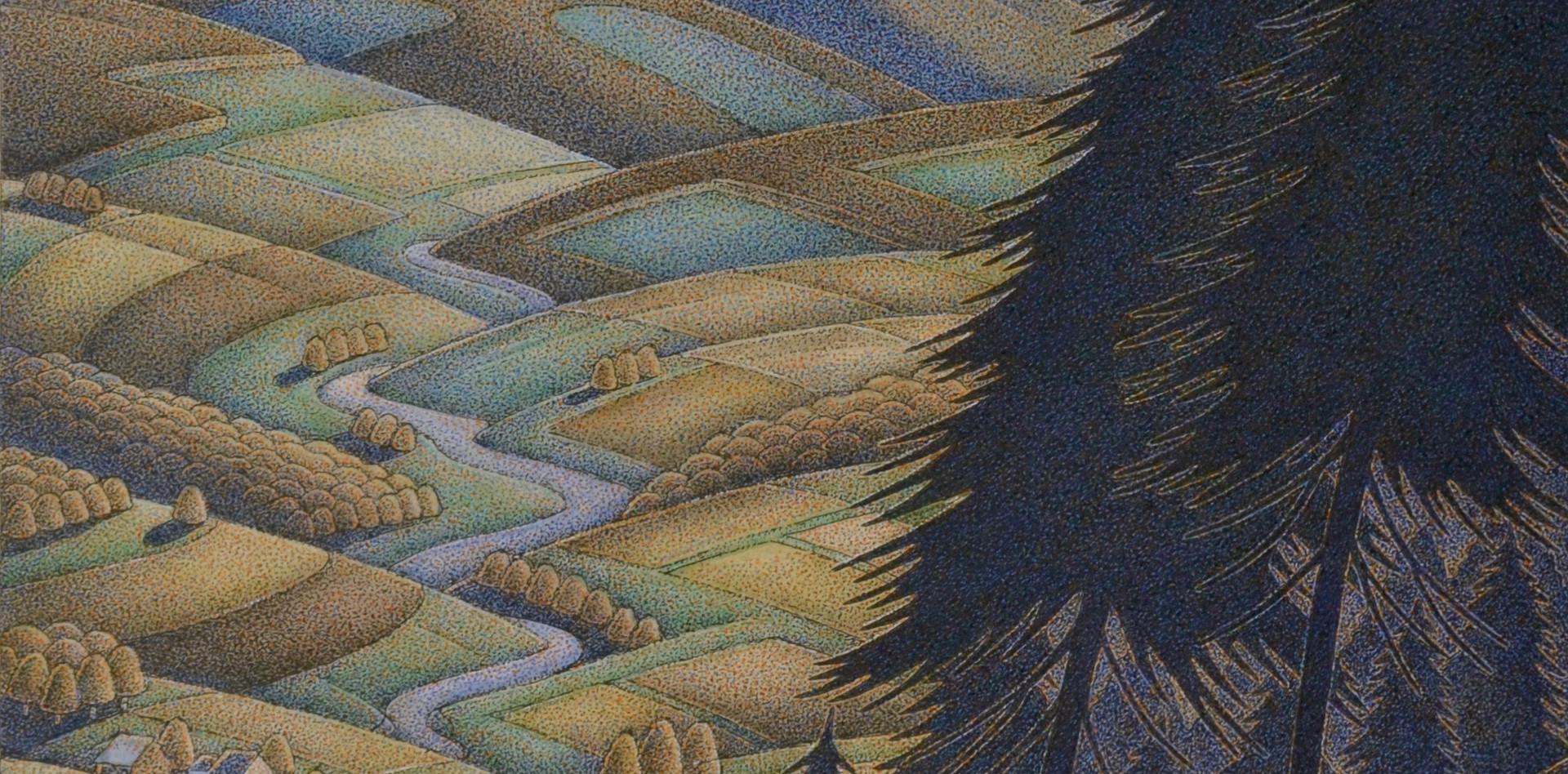 """Down The Valley 13"""" x 6''"""