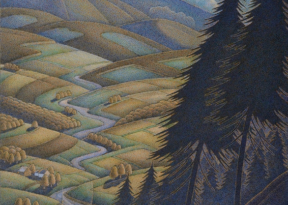 "Down The Valley 13"" x 6''"