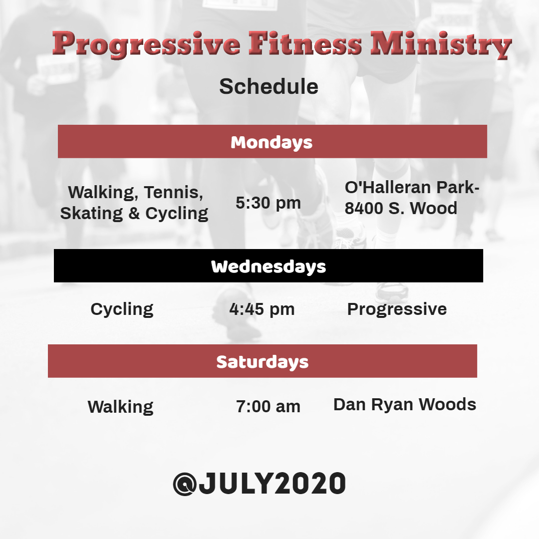 Fitness Ministry Schedule