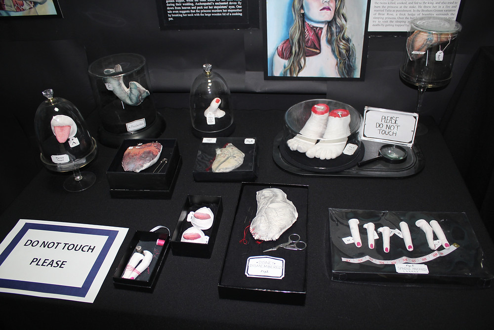 disney dismembered sculptures